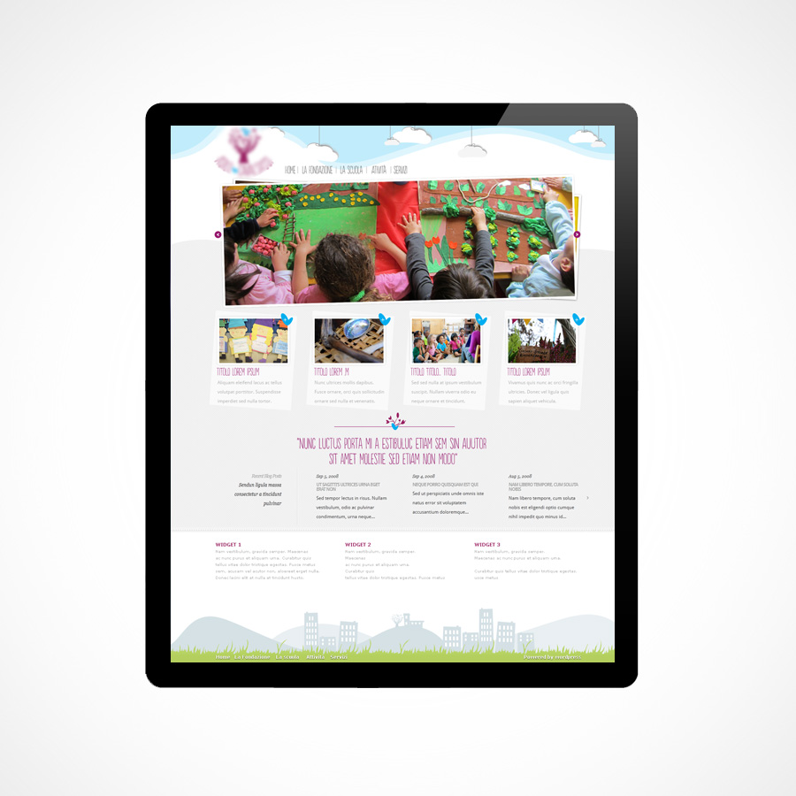 Kindergarten website (project)